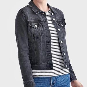 nwt jcrew black denim jacket j6776